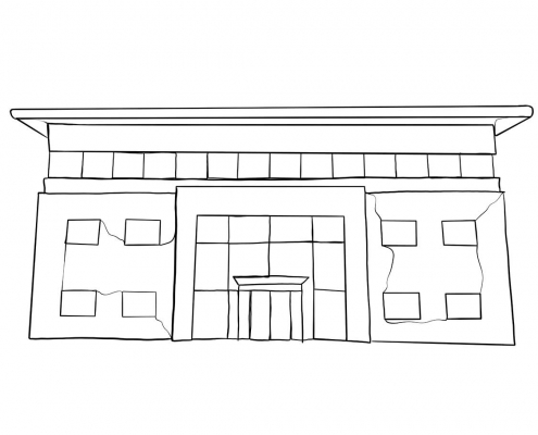G2 Business Centre Attercliffe Line Drawing
