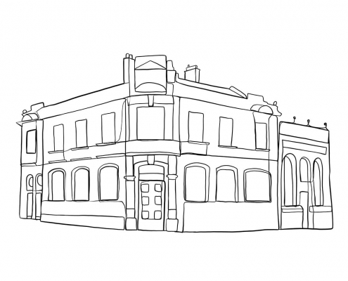 G6 Business Centre in Attercliffe - Line Drawing