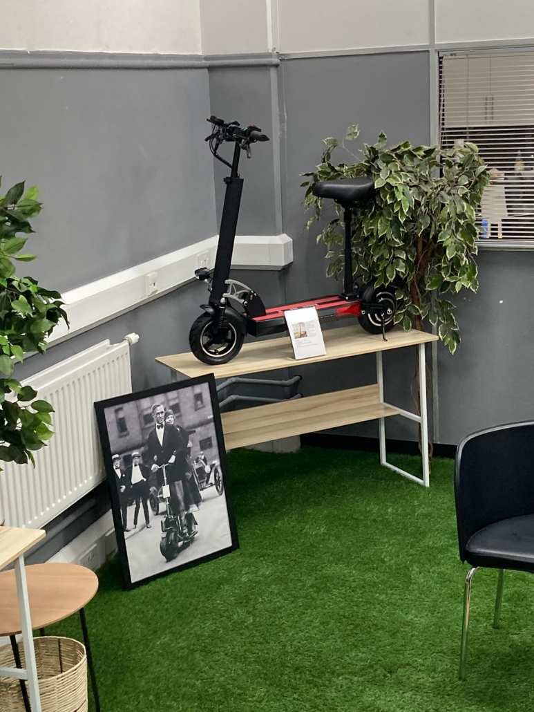 Inside Yorkshire Electric Scooters