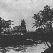 Old photo Christ Church on the banks of the Rive Don in Attercliffe