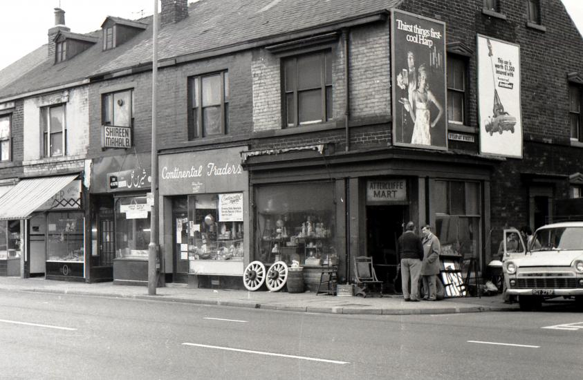 An old photograph of Attercliffe, Sheffield